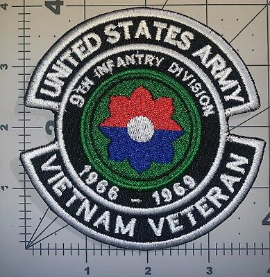 "Us Army 9Th Infantry Division Vietnam Veteran 1966-1969 Patch 4"" New (B72)"