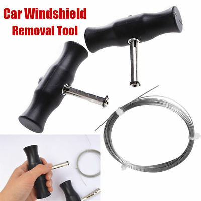 Car Windshield Windscreen Removal Tool Window Glass Cutting Wire Handles Kit