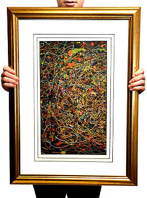 ORIG. ABSTRACT PAINTING after JACKSON POLLOCK by RICHARD NELSON, CALIFORNIA