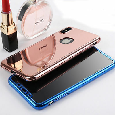 360  Mirror Phone Case For iPhone XS Max XR 7 8 PlusCase Luxury Plating Cover