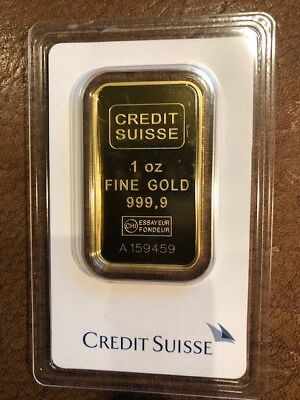 1 oz. Gold Bar - Credit Suisse - 99.99 Fine in Assay 9459