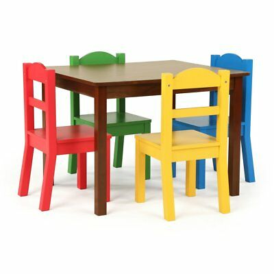 Tot Tutors Discover 5 Piece Kids Table and Chair Set, Multicolor