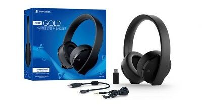 New Sony PlayStation Gold Wireless Headset 7.1 Surround Sound PS4 Version 2018