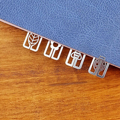 20pcs Mini Metal Bookmarks Office School Book Note Clip Chic Cute Case Box HK