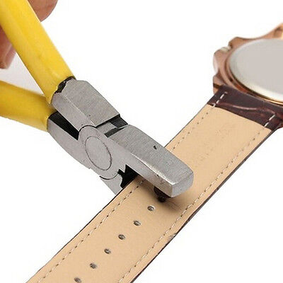 New Universal Hand Leather Strap Watch Band Belt Tool Hole Punch Pliers Tool FHK