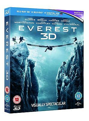 Everest (3D + 2D Blu-ray, 2 Discs, Region Free) *BRAND NEW/SEALED*