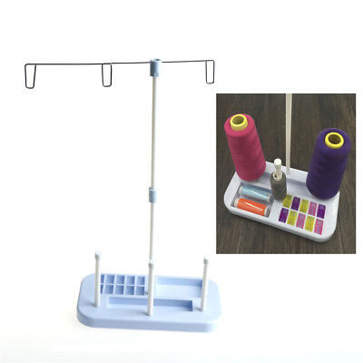 Adjustable 3 Cone Embroidery Thread Spool Holder Stand for Sewing Machi HK