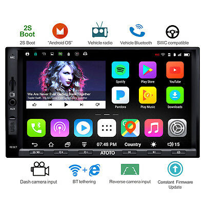 ATOTO Android Autoradio GPS Navi 1G /16G / A6Y2710SB /2*Bluetooth/WiFi/Camera In