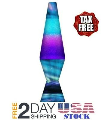 Lava Lite 2160 Colormax Lamp with Tri-Colored Globe with Silver Glitter and N...