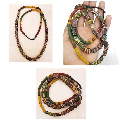 Antique Tribal African Wonderful Naga Land Ancient Old Beads Necklace  #5n