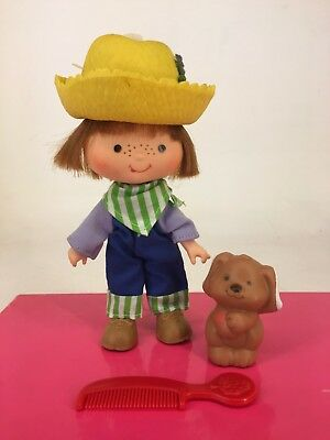 Vintage 1980s Strawberry Shortcake - Huckleberry Pie with Pupcake & Comb