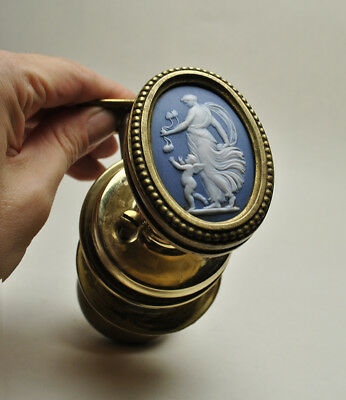 Wedgwood Rare 19th Century Blue Jasperware Door Knob
