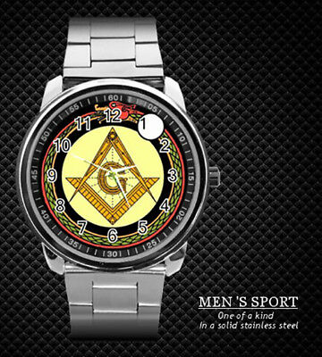 Mason Freemason Masonic Freemasonry Steel Watch New 2018 (Rare)