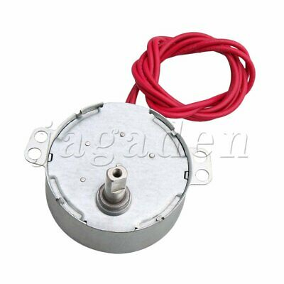 Turntable Synchron Motor AC 5V 0.8-1RPM CCW/CW Flat Shank for Christmas Tree