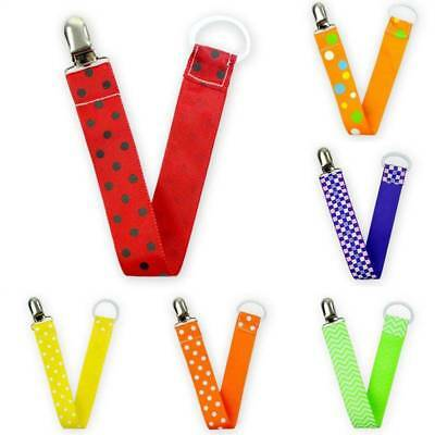 Baby Pacifier Clip Chain Ribbon Dummy Holder Soother Pacifier Clips Leash Straps