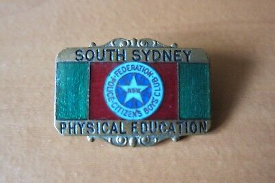 RARE South Sydney Physical Education Police Citizens Boys Club Federation Badge