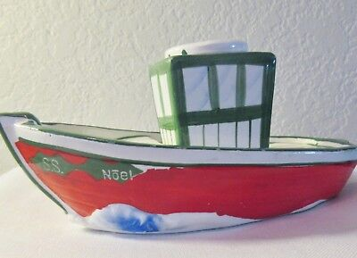 Vintage Holt Howard SS NOEL Ship Candle holder ONLY Replacement No Shakers