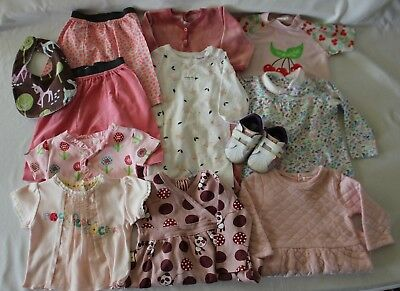 LOT 12 Pcs Baby Girl 00 3-6m Clothes ~ BONDS COUNTRY ROAD SOOKI ADIDAS ROCHA