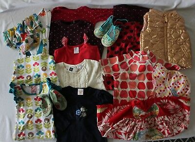 LOT 17 Pcs Baby Girl 0 6-12m Clothes ~ OOBI SEED TINY TRIBE GAIA FRED BARE SOOKI