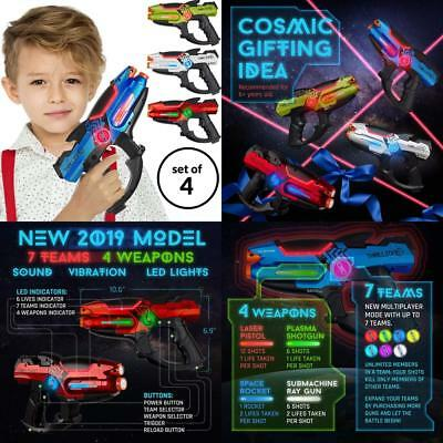 Laser Tag Guns Set – 4 Pack Multiplayer Gun, No Vest Needed – Indoor &...