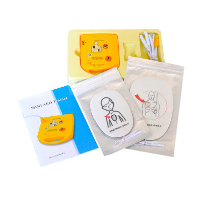 Mini AED Trainer XFT-D0009 First Aid Train Device Training Machine Pads Spanish