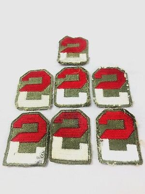 WW2 WWII US U.S. 2nd Army Patch Lot,Division,Corps,Infantry,Original,Edge,Cut