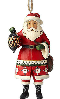 Jim Shore*SANTA HOLDING LANTERN ORNAMENT*New 2018*NIB*Christmas*6002737