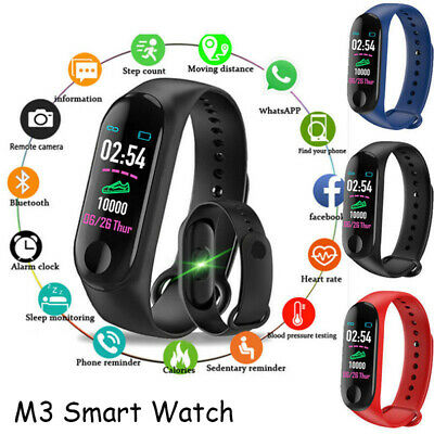 Bracciale con frequenza cardiaca M3 Smart Watch Sports Trakcer Calorie Steps