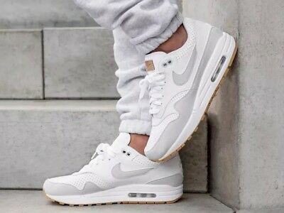 detailed look 924d6 0af6d Nike Air Max 1 White Pure Platinum Gum Uk Sizes 7-11 New 2018 AH8145