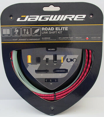 Jagwire Road Elite Link Teflon Coated Shift Cable Kit Sram/Shimano/Campy Red