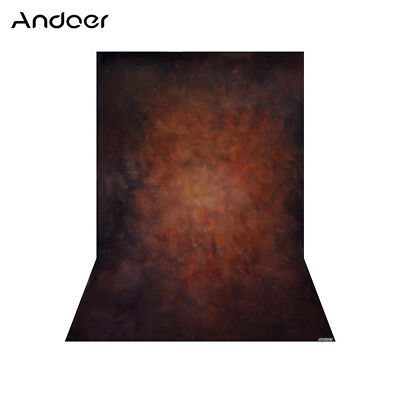 Andoer 1.5 * 2.1m/5 * 7ft Photography Background Brown Retro Wall Backdrop W5P6