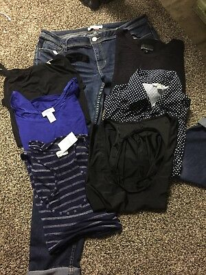 Huge Lot Of Women Plus Size XL-1X Sweaters/tops/blouses/jeans Mixed Lot