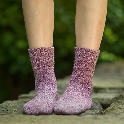 Women Winter  Soft Warm Solid Socks 5 Colors 1Pair Wool Vintage Harajuku Thick