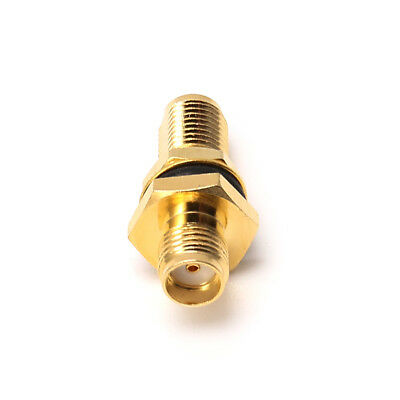 SMA Female Jack RF Connector Straight ConverterCoaxial Adapter Panel Mount PTFE