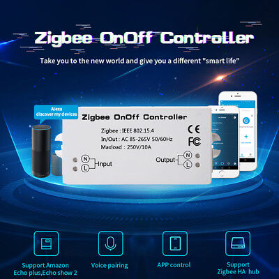 On/Off AC85-265V 10A  Zigbee Controller Remote Control Switch Smart Home Module