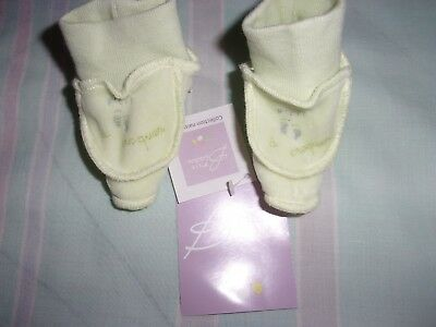 Chaussons P'tit Bisou Taille Naissance   NEUF