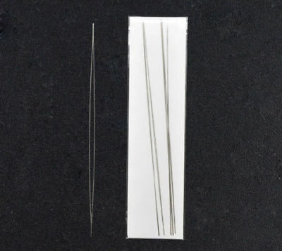 Big Eye Curved Beading Needles Easy Thread 125x0.6mm FREE UK DELIVERY