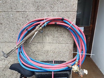 Oxy & Acetylene burning lamp,hoses and regulators