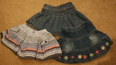 Bulk lot girls skirts size 2 denim cotton embroidered Piping Hot Rivers Dymples