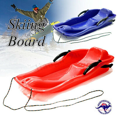 Skiing Board Sled Luge Snow Grass Sand Board Pad W/ Rope For Double People PY