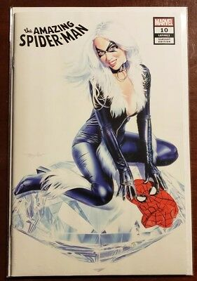 AMAZING SPIDER-MAN #10 MIKE MAYHEW BLACK CAT VARIANT With COA Marvel NM HOT