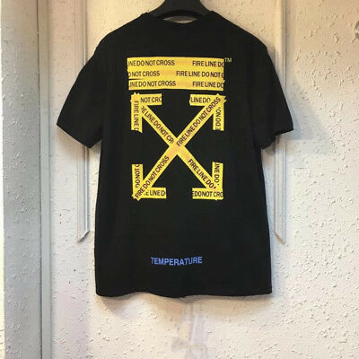 🇦🇺 AU STOCK Off White  T shirt tee shirt yellow line Street Wear tee top