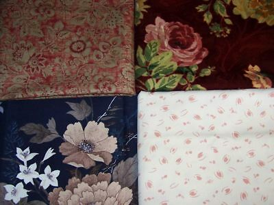 Floral Fabric Lot Drapery Upholstery Accessories Crafts Fabric 26 Ft (8 2/3 Yds)