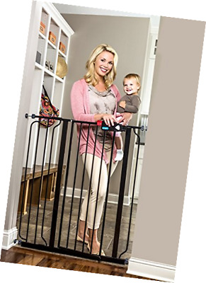 Regalo Easy Step Extra Tall Walk Thru Gate, Bonus Kit, Includes 6-Inch Black