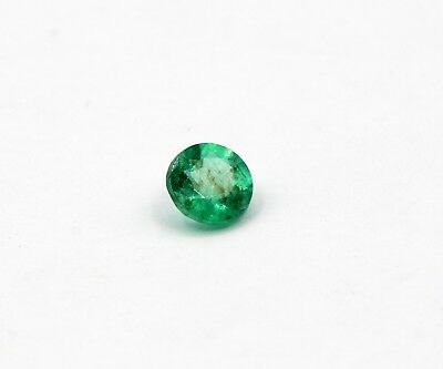 0.38 Ct Natural Emerald Loose Round Cut Zambian No Heat Gemstone