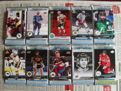 52 NHL Hockey Cards 2017/18 Upper Deck Series One