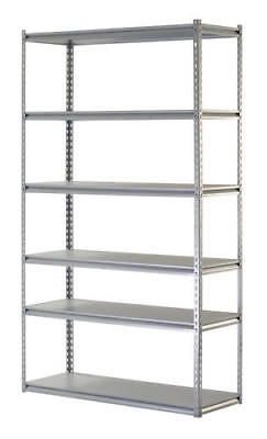 Heavy Duty 48x86x18 Gray 6 Adjustable Shelf Steel Workbench Shelving Storage