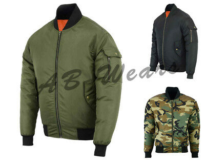 Mens Motorcycle Motorbike Waterproof Jacket Bomber CE Armour MA1 Flight Scooter