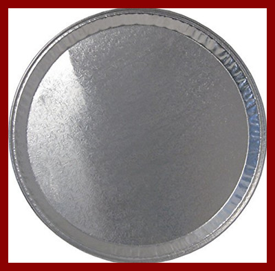 """Multi Pack Of 25 Disposable Aluminum 12"""" Round Flat Serving Trays – Perfect Tray"""