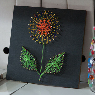 Sunflower Vintage String Art Kits for Kids Learn to Making Flower Painting